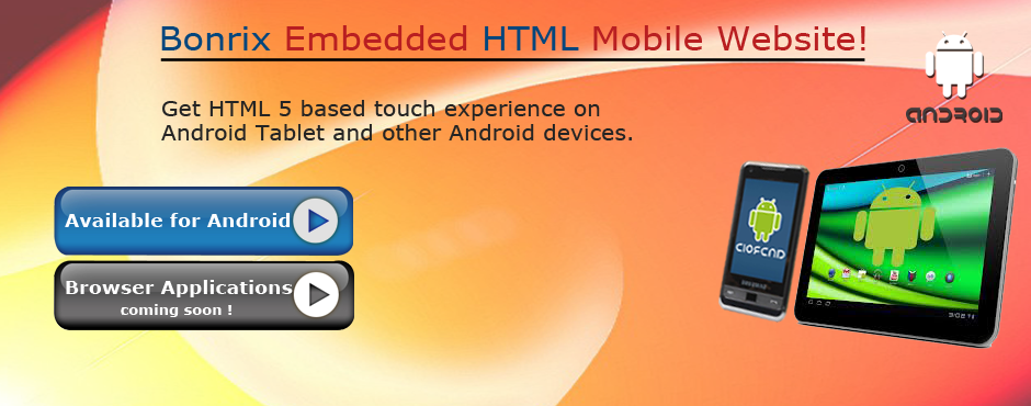 Bonrix RetailDesk embedded in HTML 5