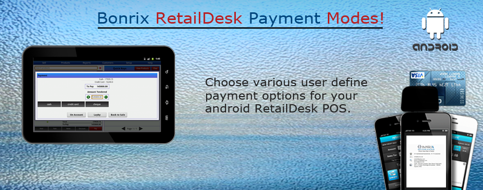 Bonrix RetailDesk with split payments